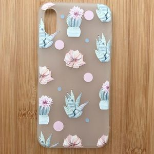 Accessories - NEW Iphone X Floral Cactus Flowers Case